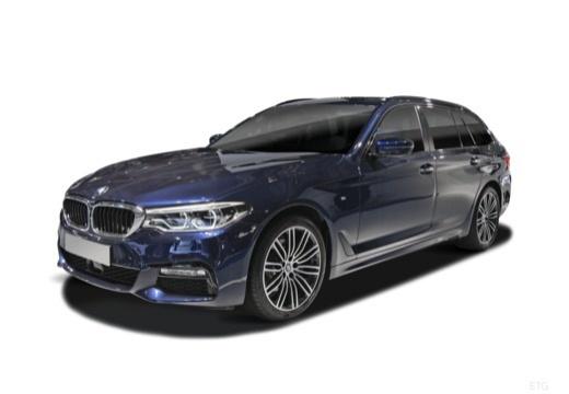 Photo de l'avant gauche d'une BMW 530d Touring 265ch BVA8 Luxury (Break)