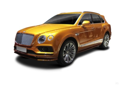 Photo de l'avant gauche d'une Bentley Bentayga 6.0 W12 Speed 635 BVA (Tout-Terrain)