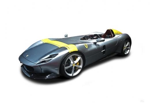 Photo de l'avant gauche d'une Ferrari Monza SP1 6.5 V12 810 BVA (Cabriolet)