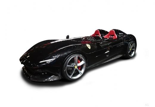 Photo de l'avant gauche d'une Ferrari Monza SP2 6.5 V12 810 BVA (Cabriolet)