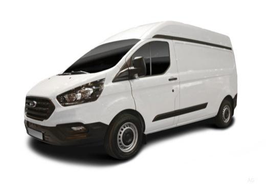 Photo de l'avant gauche d'une Ford Transit Custom Fourgon 280 L1H2 2.0D 105 EcoBlue Ambiente (Fourgon)