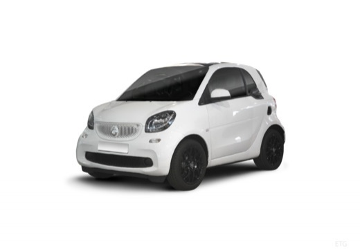 Photo de l'avant gauche d'une Smart Fortwo Coupé 1.0 71 BA6 Urbanshadow (Coupe)