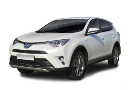 Photo de l'avant gauche d'une Toyota RAV 4 Société Hybride 155 + 42 2WD e-CVT Tendance (Tout-Terrain)