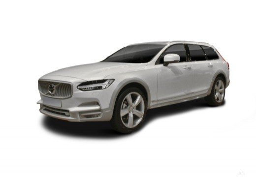 Photo de l'avant gauche d'une Volvo V90 Cross Country 2.0i T6 310 AWD Geartronic 8 Cross Country (Break)